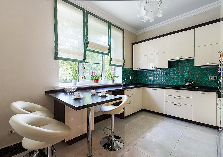 Дизайн кухни фото 9 кв с барной стойкой