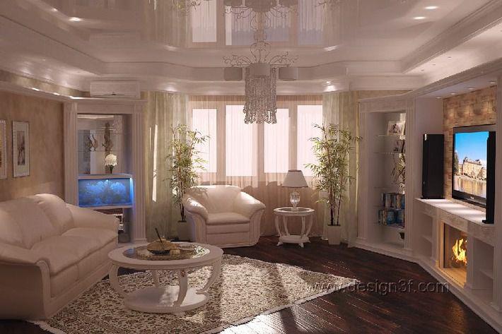 Дизайн интерьера гостиной в квартире фото