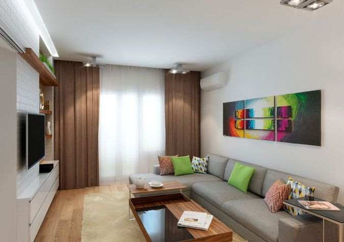 Дизайн гостиной 18 квм.