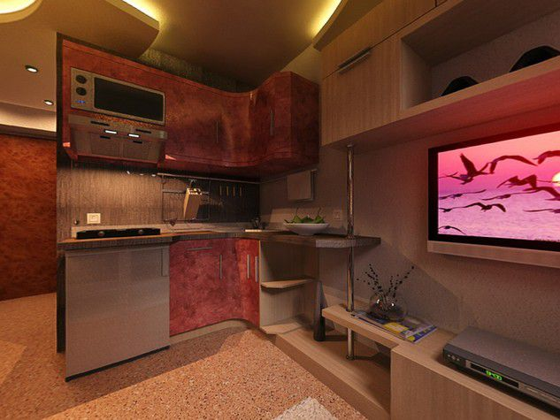 Квартира без кухни дизайн
