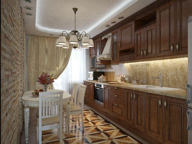 Фото узких кухонь в квартирах