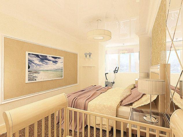 Проект: спальня объединенная с балконом, автор анастасия кис.